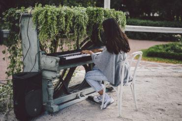 «Рояль в цветах» в Парке Горького