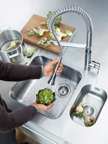 Кухонные смесители GROHE с профессиональными аэраторами