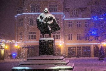 Снежный Дарт Вейдер в Польше