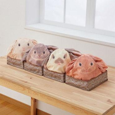 Домашние кролики, хранящие вещи