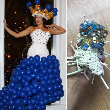 Платья из воздушных шариков и их судьба спустя месяц