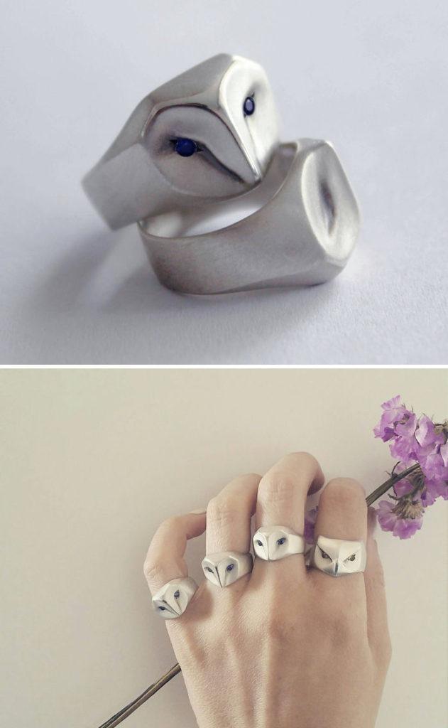 Кольца с совами