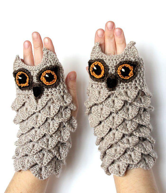 Перчатки с совами