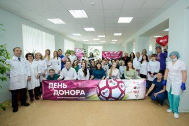 Футбольный День донора LG с игроками «Зенит-Ижевск»