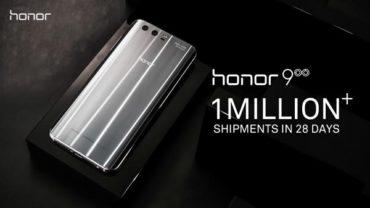 Мировые продажи Honor 9 преодолели отметку в 1 миллион штук