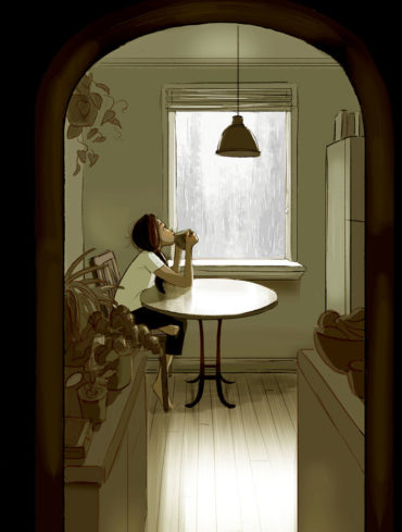 Жить одному: маленькое счастье в комиксах