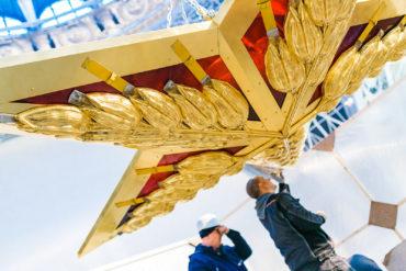 В павильон «Космос» на ВДНХ вернулась кремлевская звезда