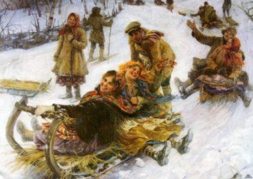 Зимние развлечения в славянской культуре