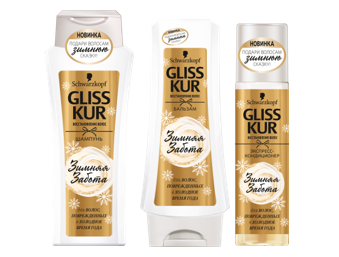 Подари волосам Зимнюю заботу с новым Gliss Kur