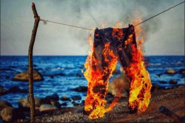 Штаны, которые горят