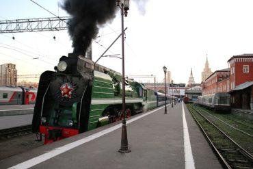 Отправление VIP-поезда «Императорская Россия» из Москвы в Пекин