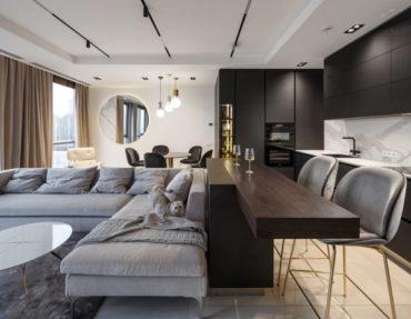 Современная двухэтажная квартира площадью 110м2