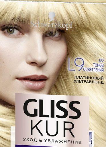 Серия окрашивающих средств на основе гиалуроновой кислоты от  Gliss Kur