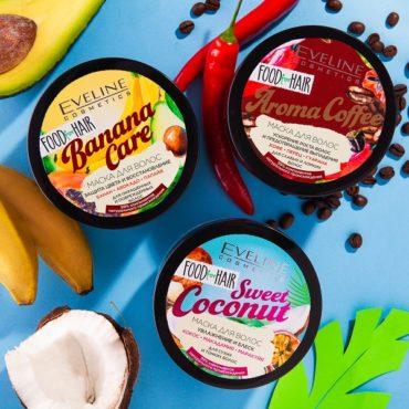Линия средств для волос Food for Hair от бренда Eveline Cosmetics