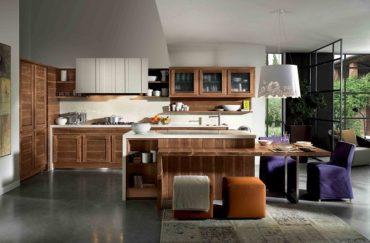 Современные кухни из массива — это возможно!