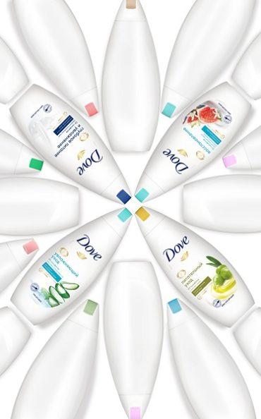 На защите липидов — бренд Dove обновил формулу гелей для душа