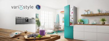 Новые холодильники Bosch со сменными цветными панелями VarioStyle — отражение индивидуальности владельца