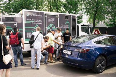 В Москве появилась самая быстрая в мире мобильная зарядка для электромобилей